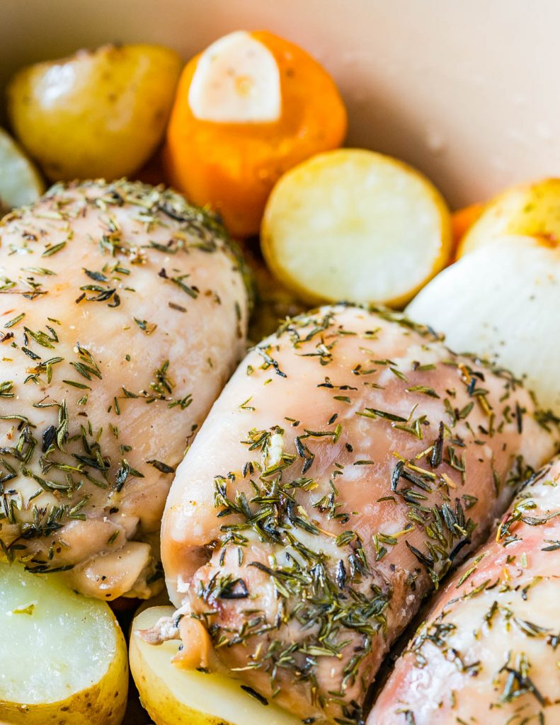 Easy Recipe Slow Cooker Garlic Chicken Root Veggies