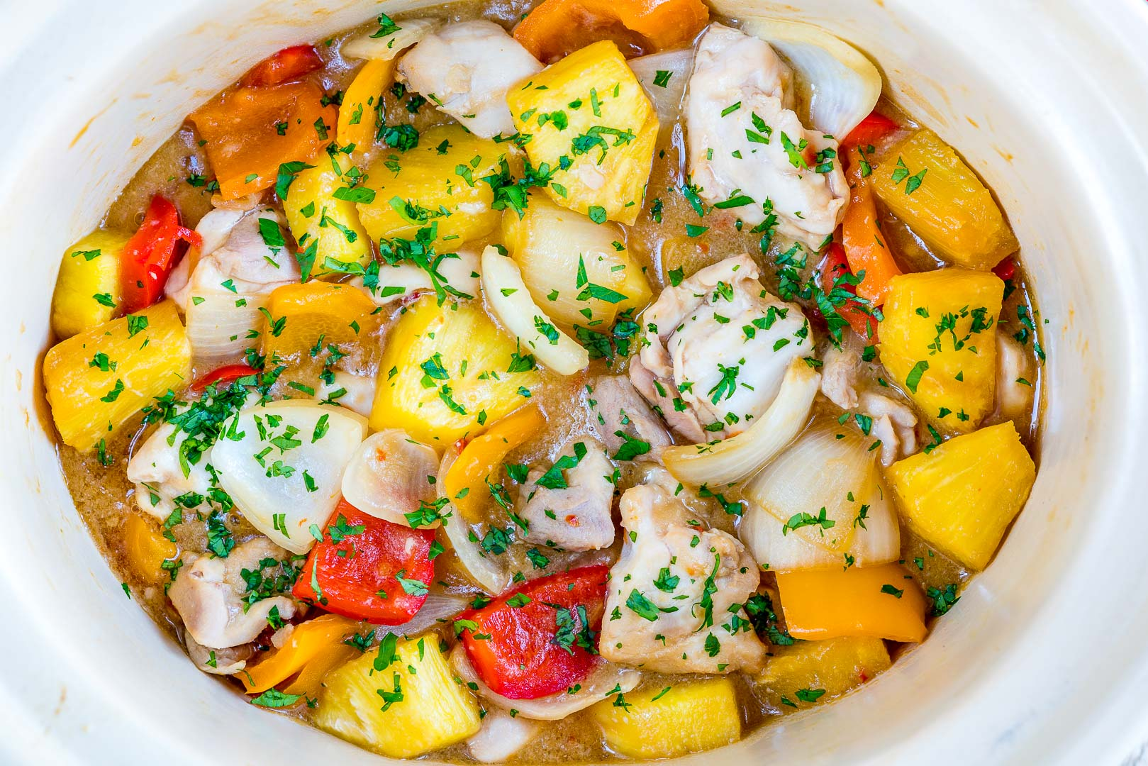 CleanFoodCrush Slow Cooker Hawaiian Pineapple Chicken