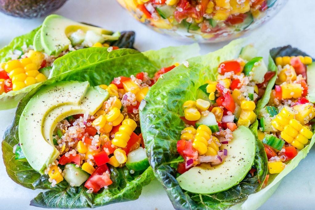 Creative Quinoa Salsa Lettuce Boats