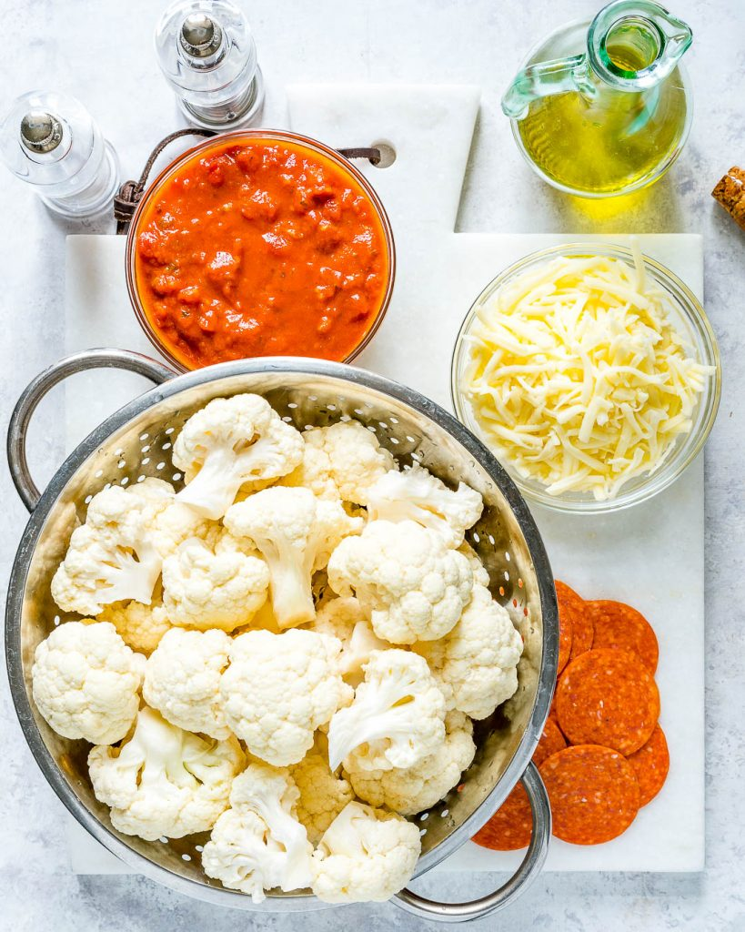 Crock Pot Cauliflower Pizza Casserole Ingredients