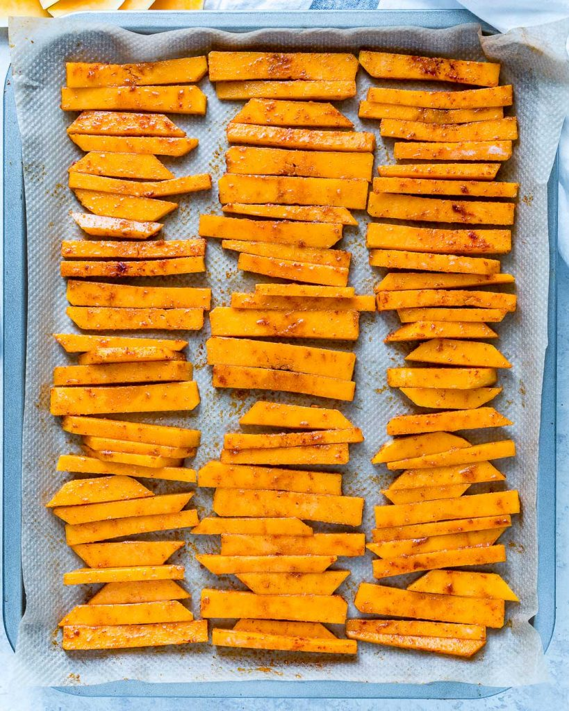 Delicious Baked Parmesan Butternut Squash Fries