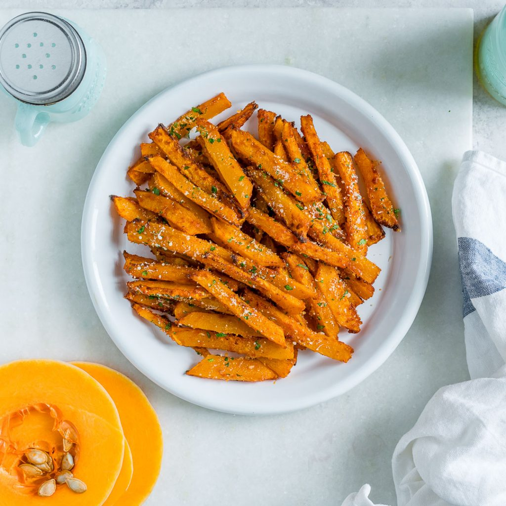 Baked Parmesan Butternut Squash Fries
