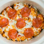 Eat Clean Crock Pot - Cauliflower PIZZA Casserole