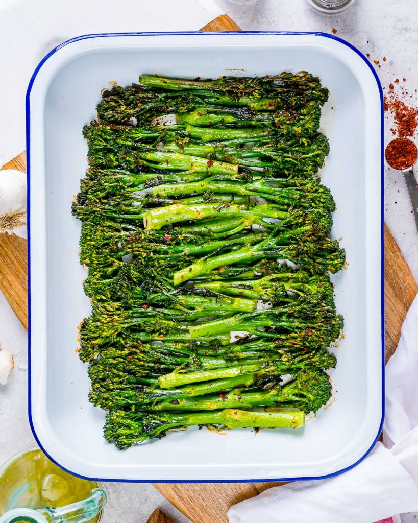 Eat Clean Tangy Honey Roasted Broccolini