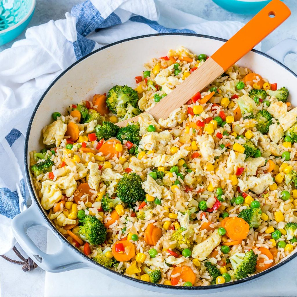 Eat Clean Veggie Packed Fried Rice