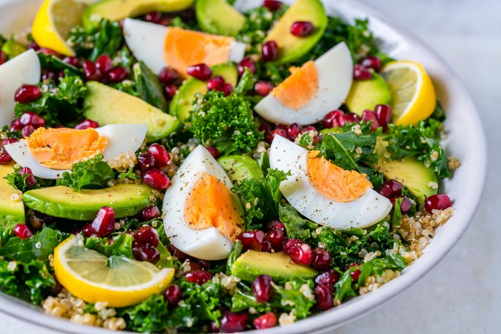Egg, Quinoa and Kale Salad Recipe