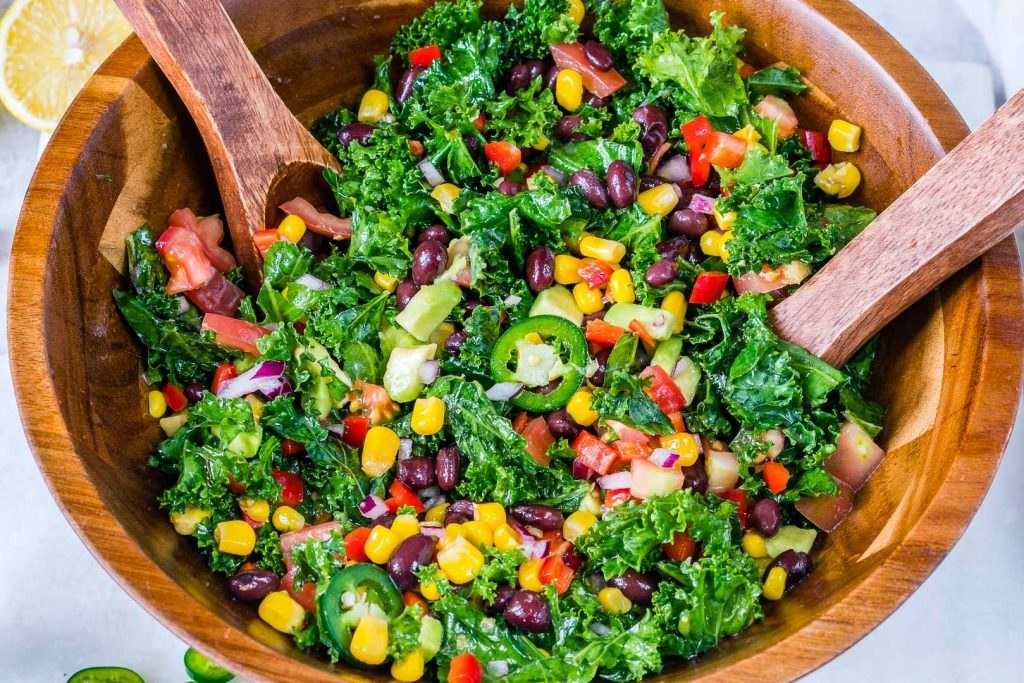 Best Honey Lime Kale Salad Clean Eating Fiesta
