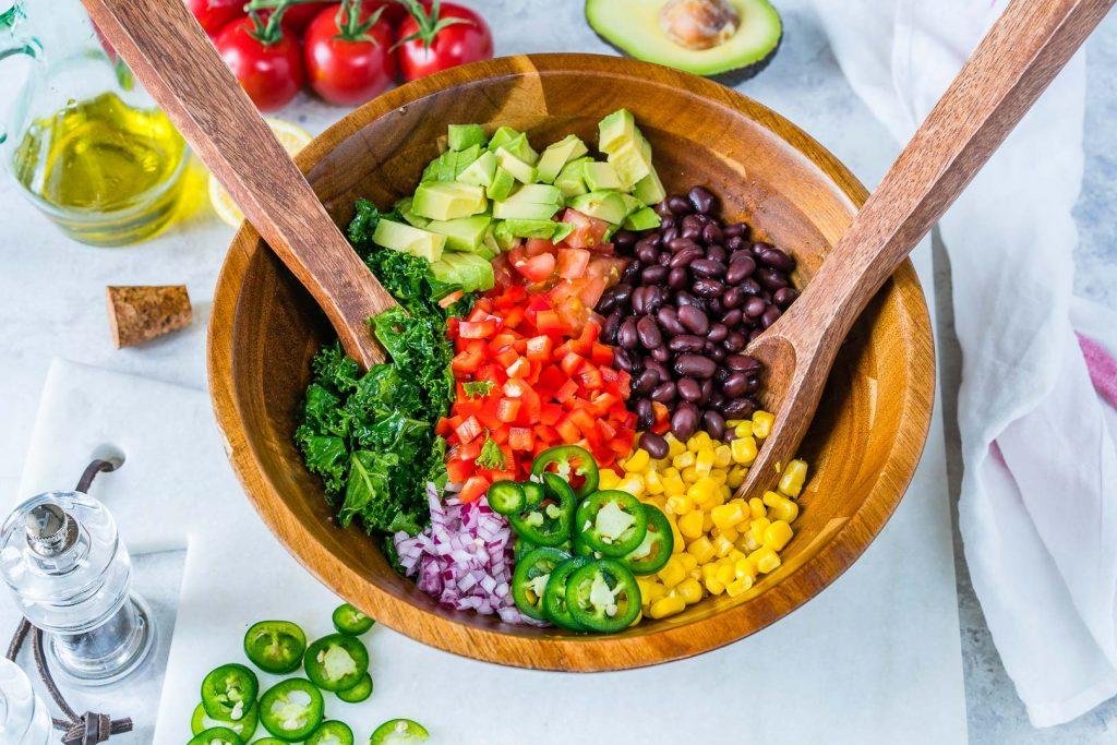 Fiesta Honey + Lime Kale Salad CleanFoodCrush Recipe
