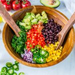 Fiesta Honey + Lime Kale Salad CleanFoodCrush Recipe
