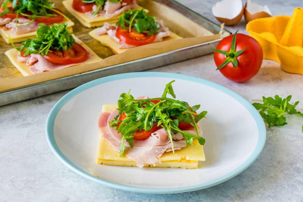 Healthy Ham Cheese Omelette Sandwiches