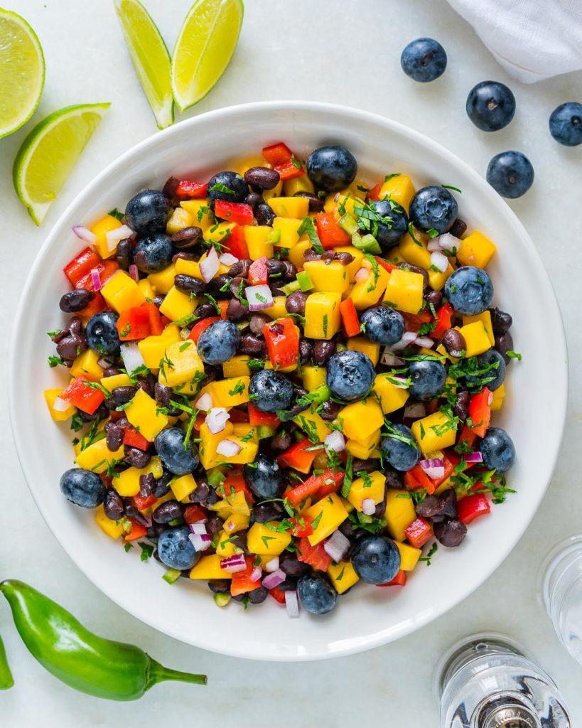 Mango Blueberry Salsa Dish