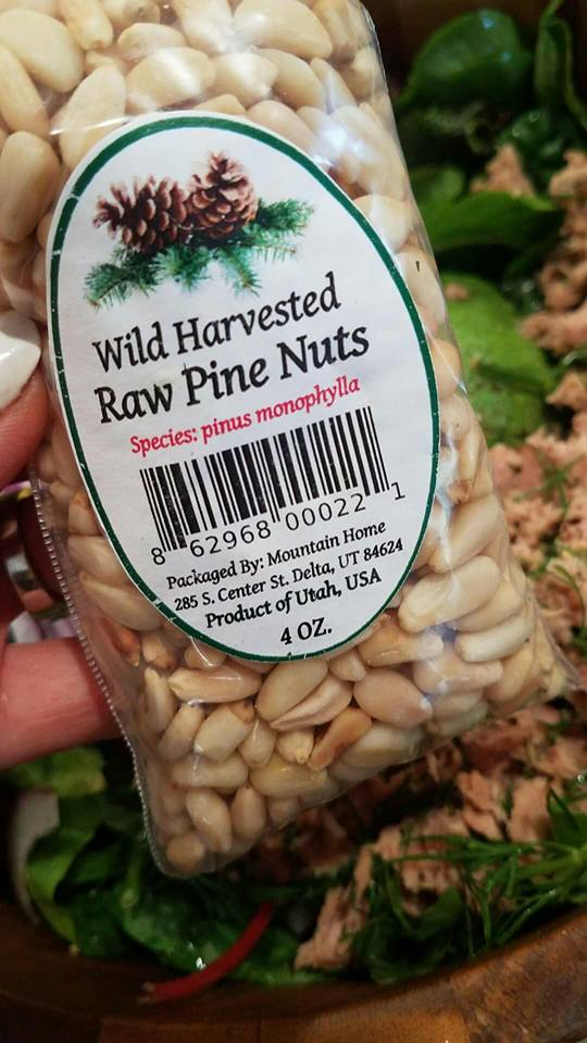 Pine Nuts for Organic Tuna Salad