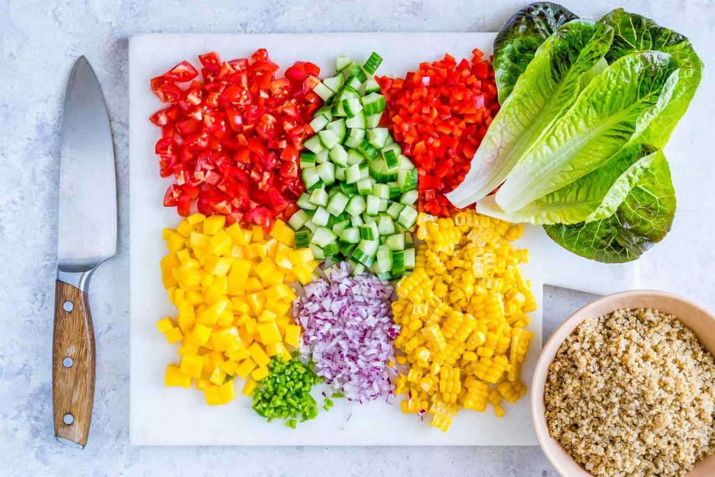 Quinoa Salsa Lettuce Boats Ingredients