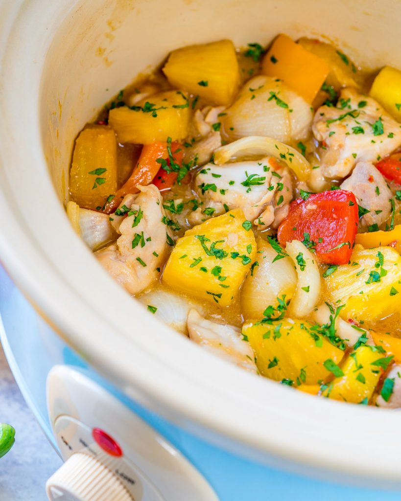 Slow Cooker Hawaiian Pineapple Chicken Clean Eating Recipe