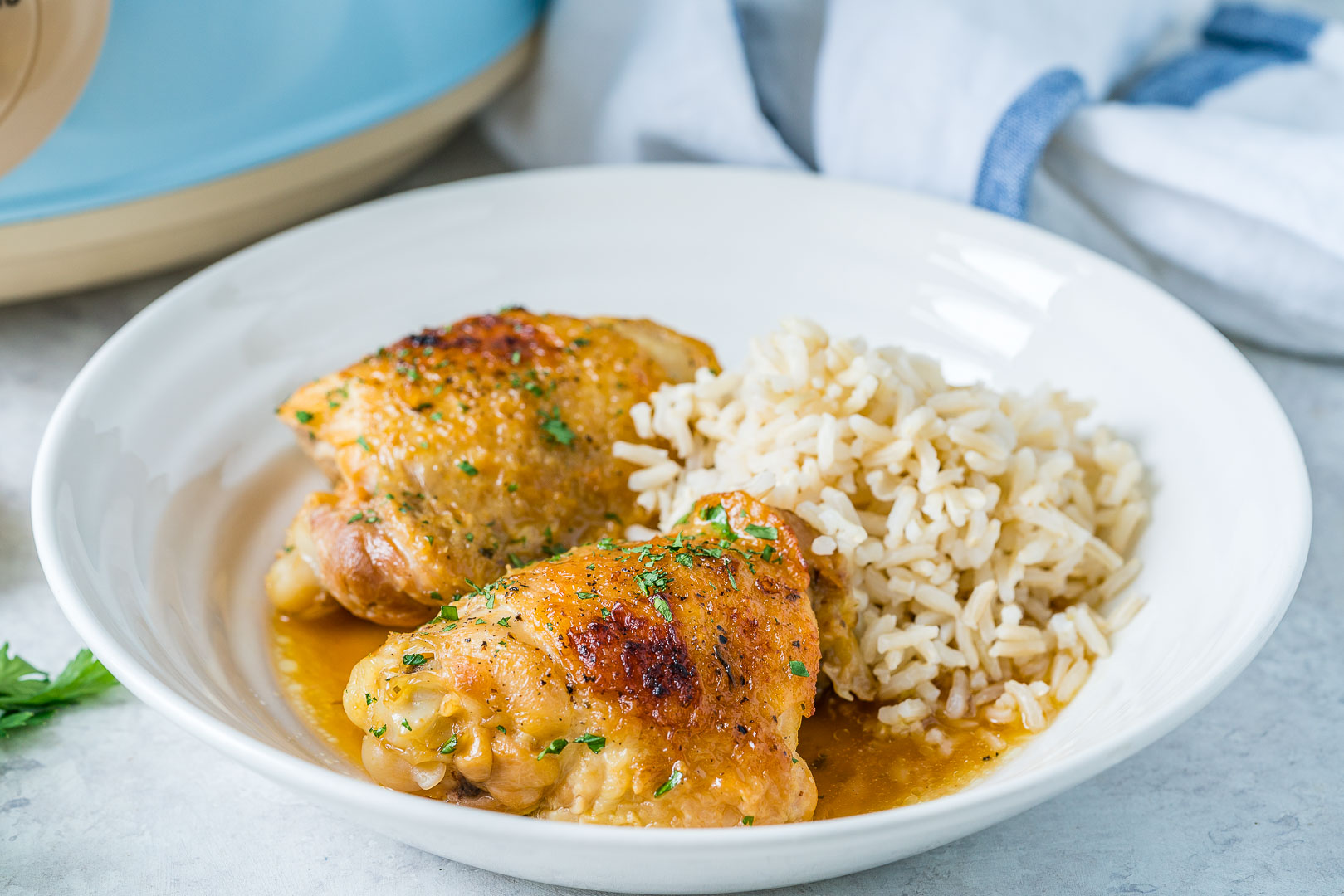 Slow Cooker Honey-Garlic Chicken CleanFoodCrush Recipe