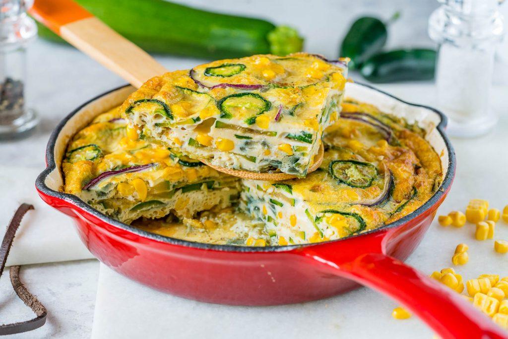 Spicy Jalapeño Zucchini Frittata Recipe