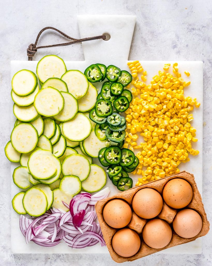 Spicy Jalapeño Zucchini Frittata Ingredients