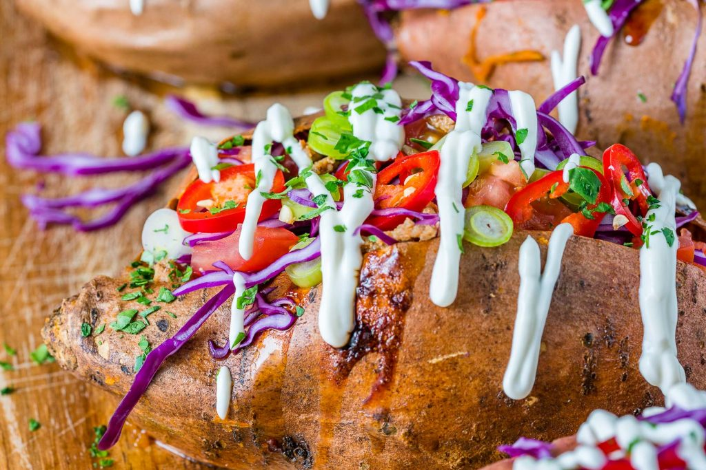Delicious and healthy Taco Stuffed Sweet Potatoes