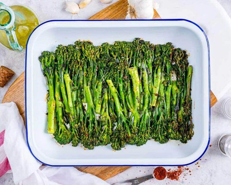 Tangy-Honey Roasted Broccolini Recipe