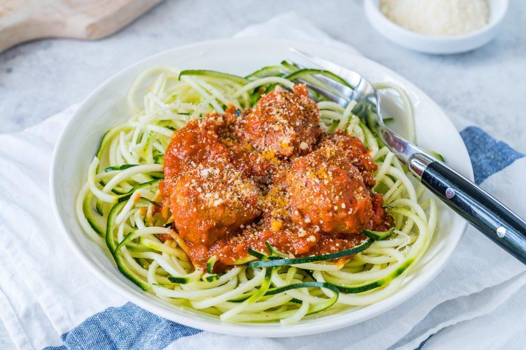Turkey Meatballs Slurpy Zucchini Noodles Recipe