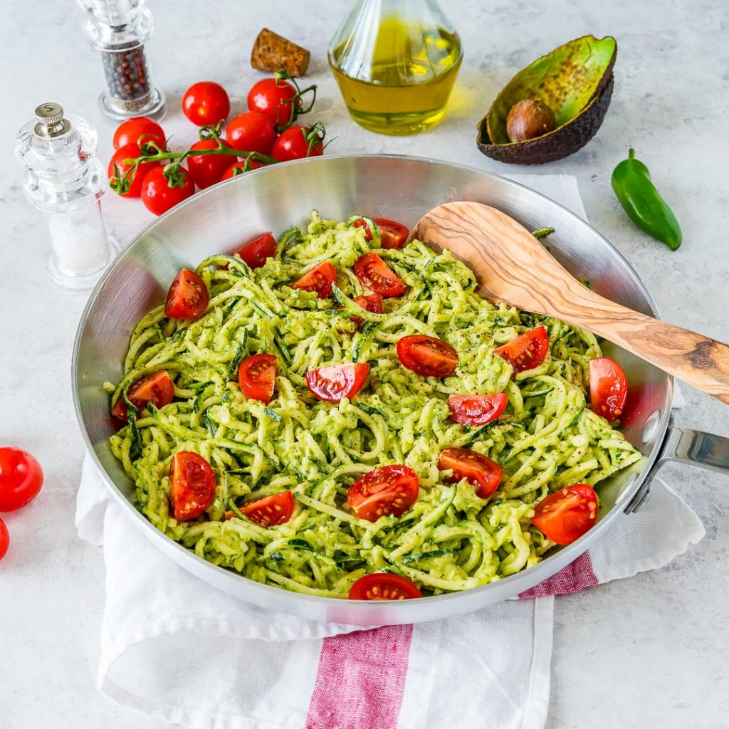 Zoodles Fresh Avocado Sauce Recipe