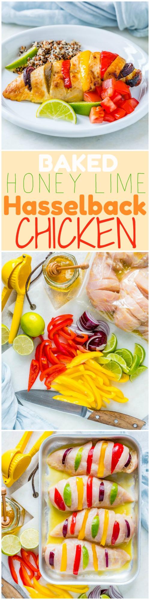 Baked Honey Lime Hasselback Chicken Dinner Idea