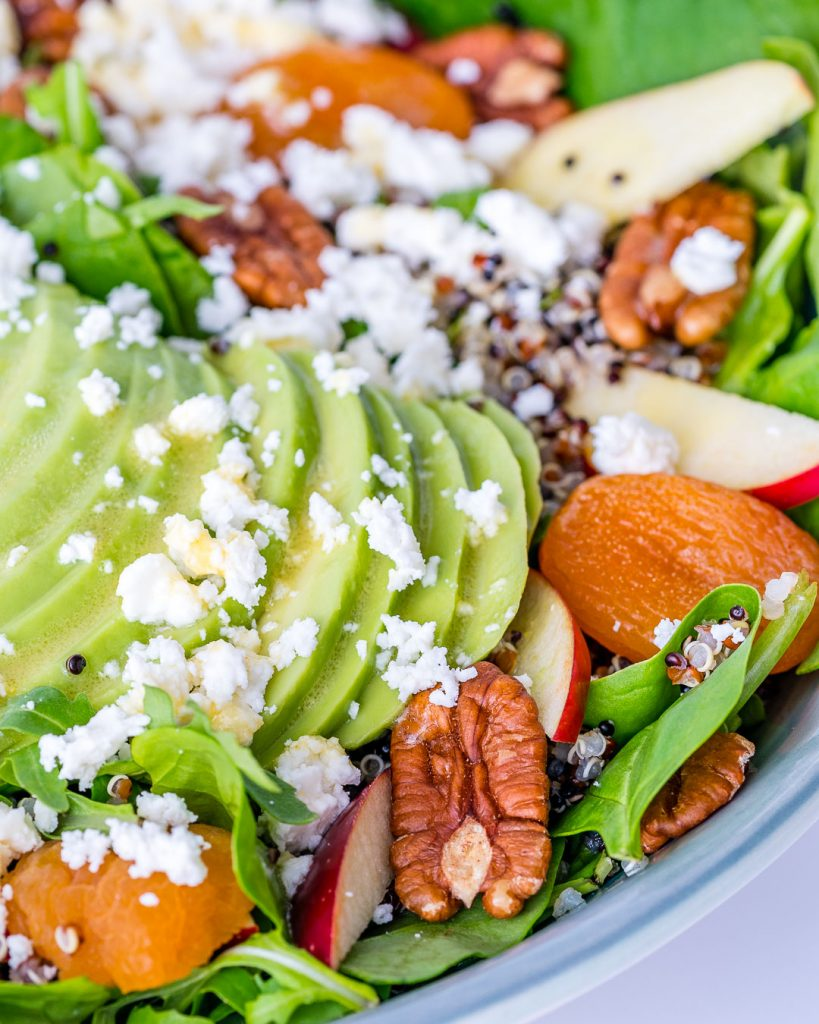 Autumn Salad Bowl with Honey Ginger Dressing Preparation