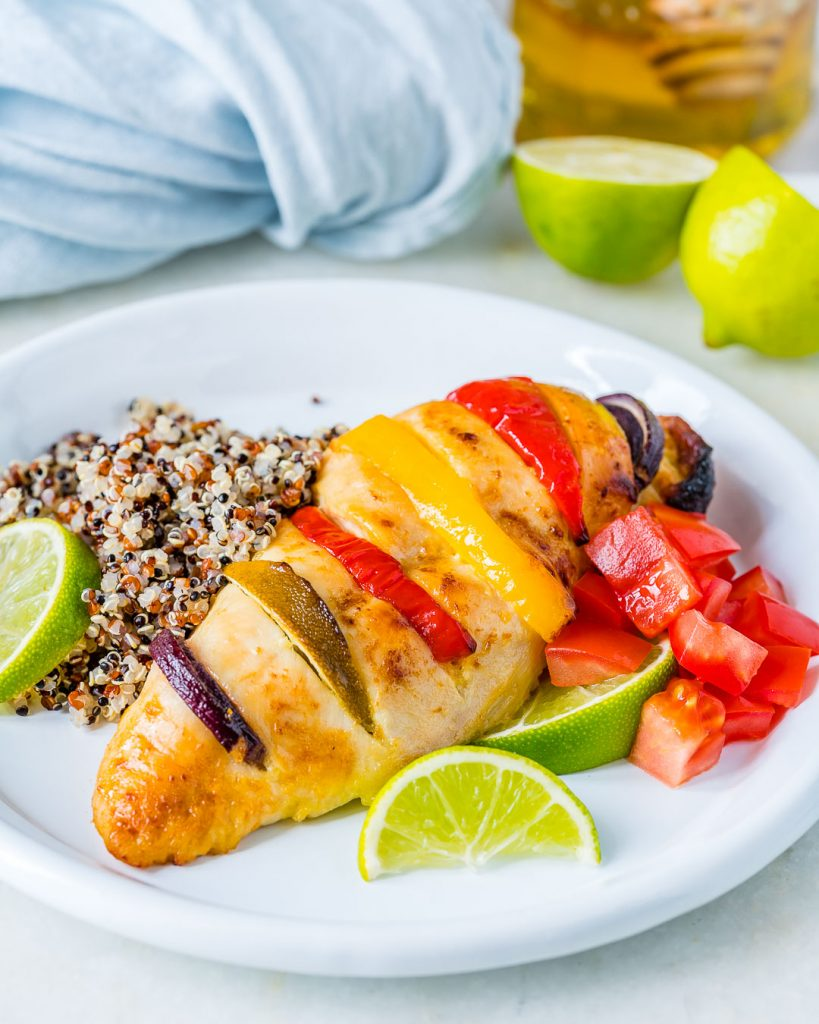 Eat Clean Baked Honey Lime Hasselback Chicken Recipe