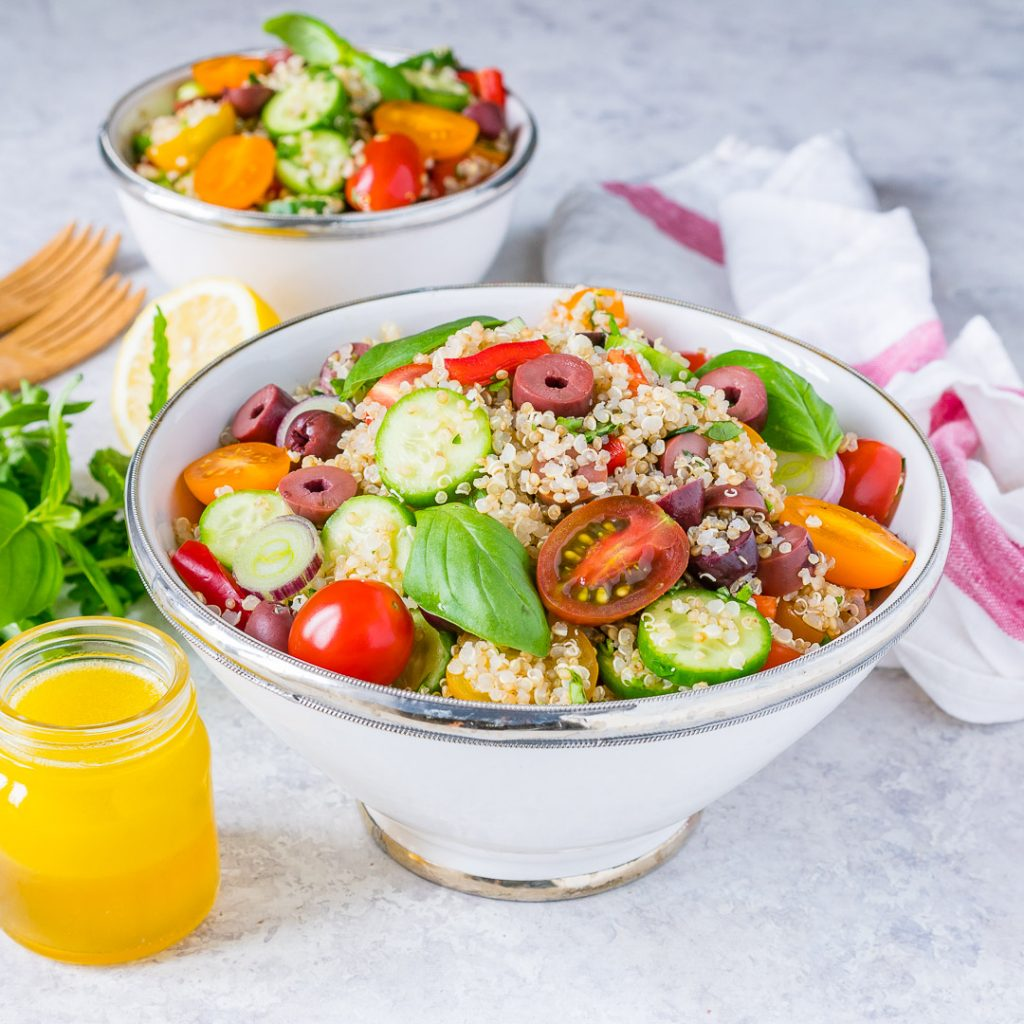 Healthy Greek Style Quinoa Salad
