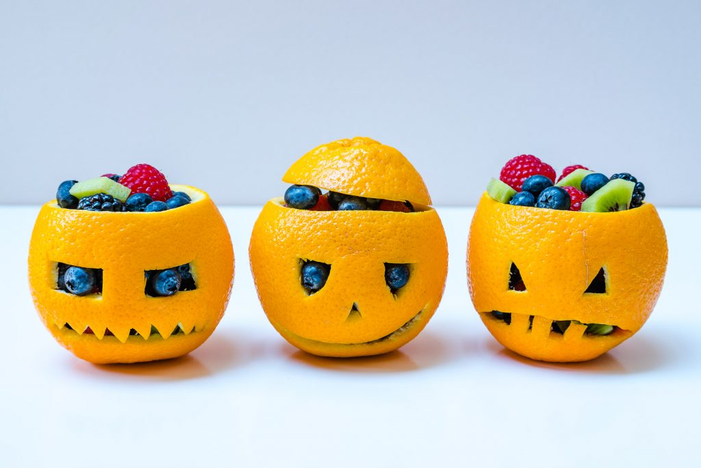 Clean Eating Orange filled Jack-O-Lanterns