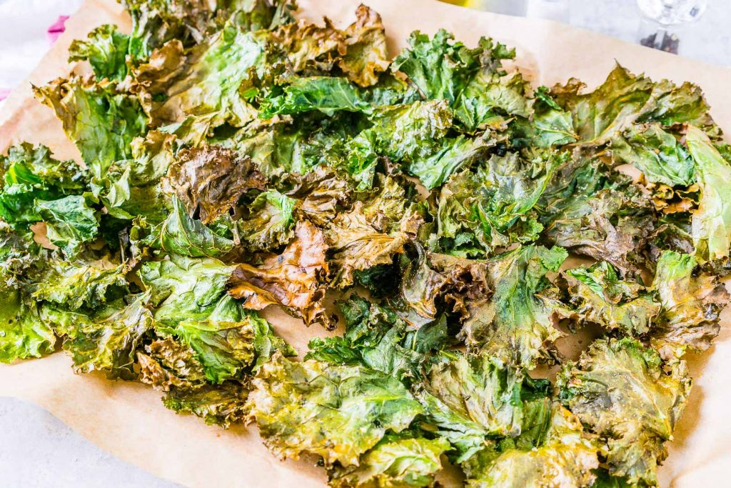 Clean Extra Crispy Garlicy Kale Chips