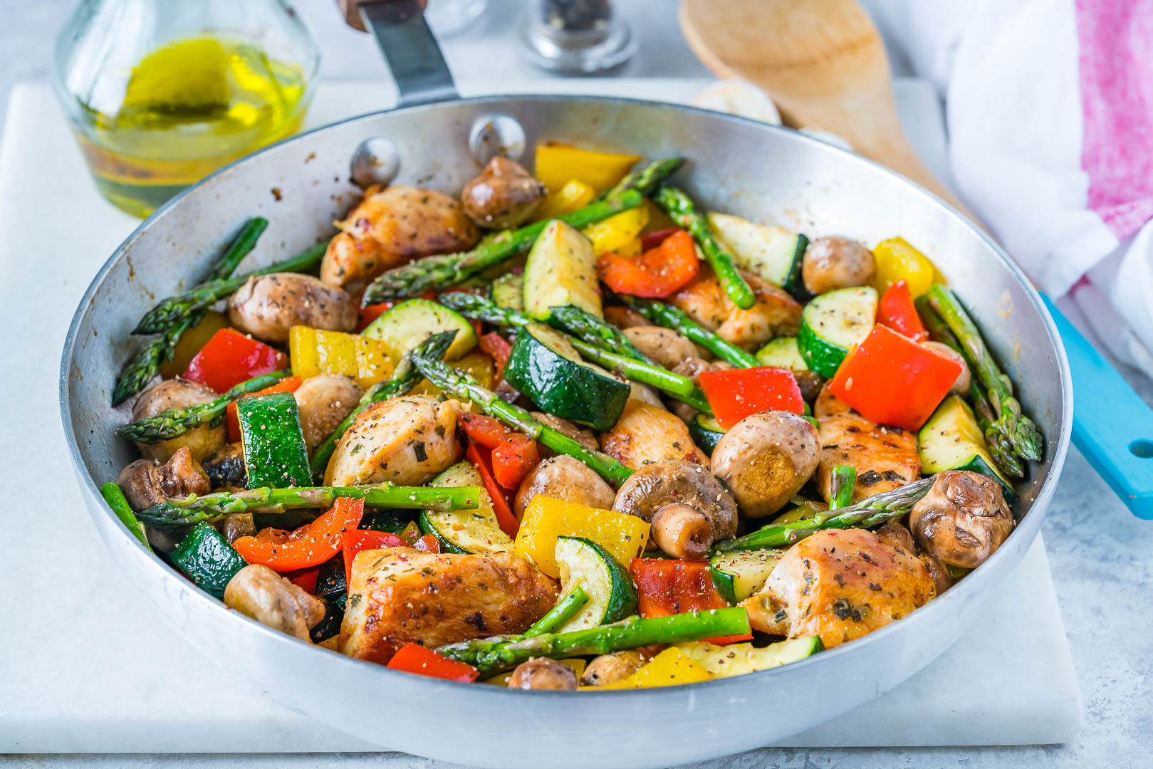 Clean One Pan Italian Chicken Skillet Recipe