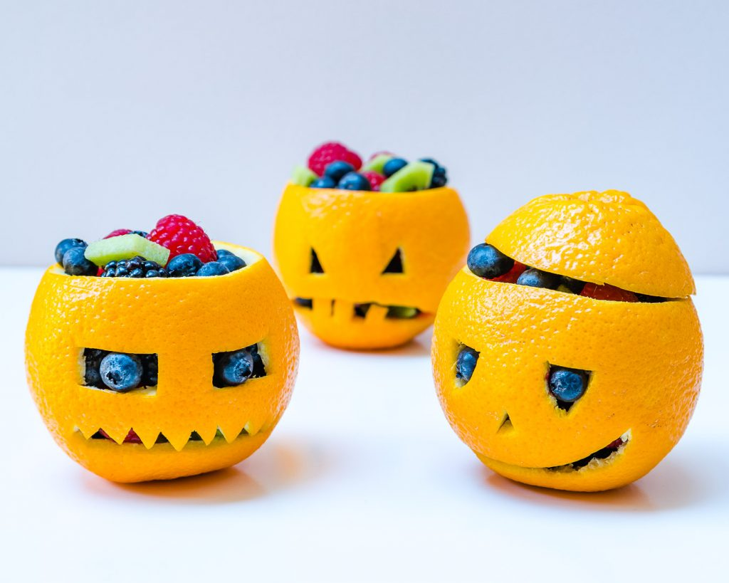 Orange filled Jack-O-Lanterns Clean Desserts