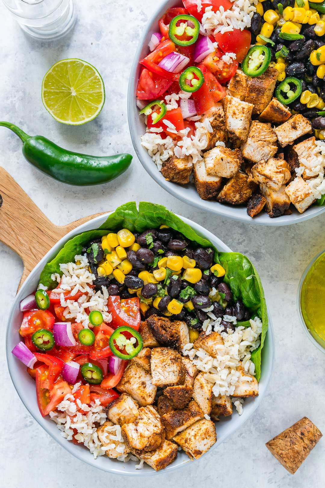 BBQ Chicken Burrito Bowls Meal Prep