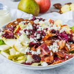 CleanFoodCrush Chopped Autumn Salad + Creamy Homemade Dressing Recipe