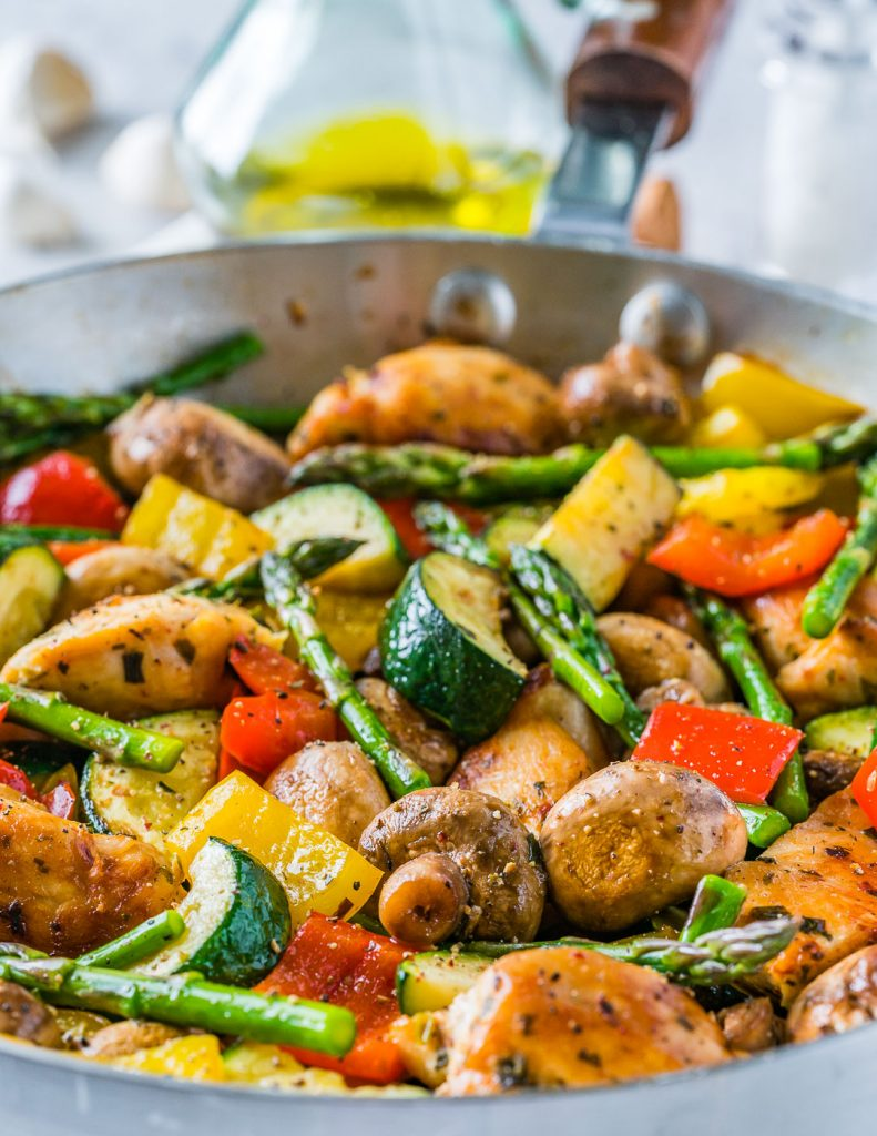 Healthy One Pan Italian Chicken Skillet