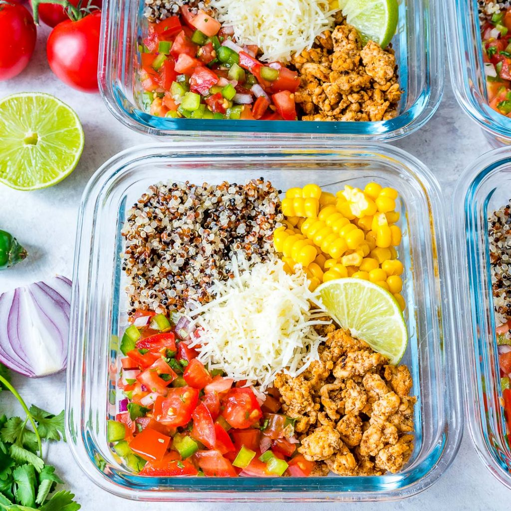 Taco Meal Prep Energy Bowls Ingredients