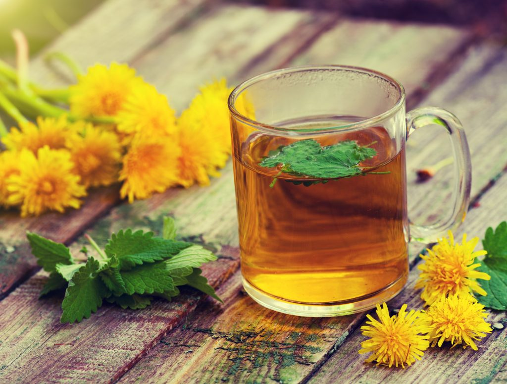 Dandelion Tea reduce water weight