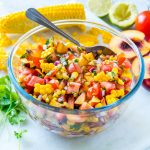 Eat Clean 10 minute Peach Salsa