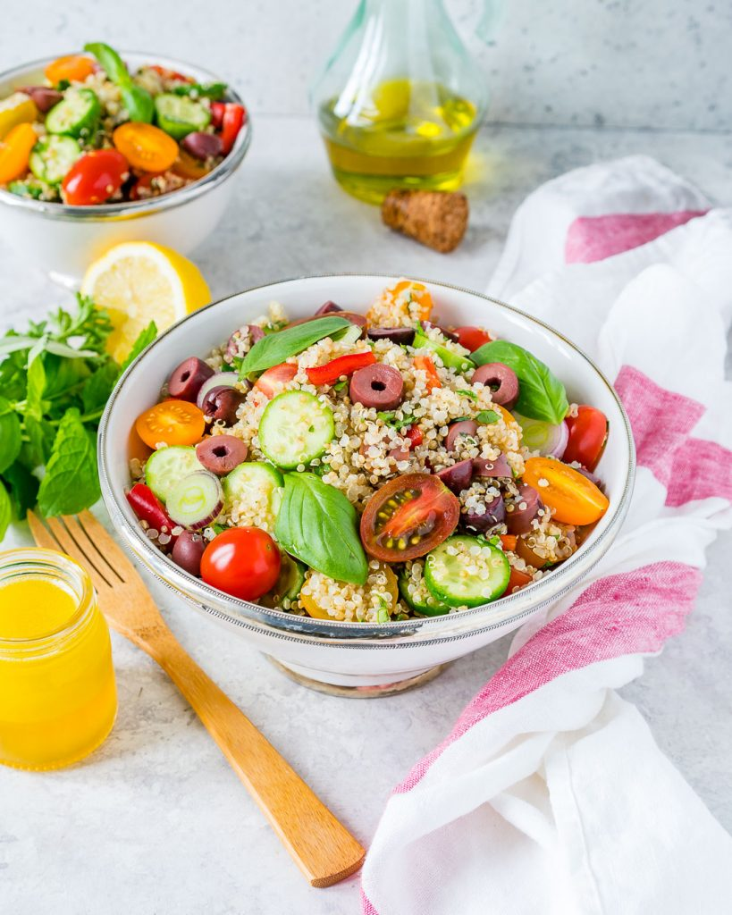 Eat Clean Greek Style Quinoa Salad