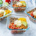 Eat Healthy Taco Meal Prep Energy Bowls