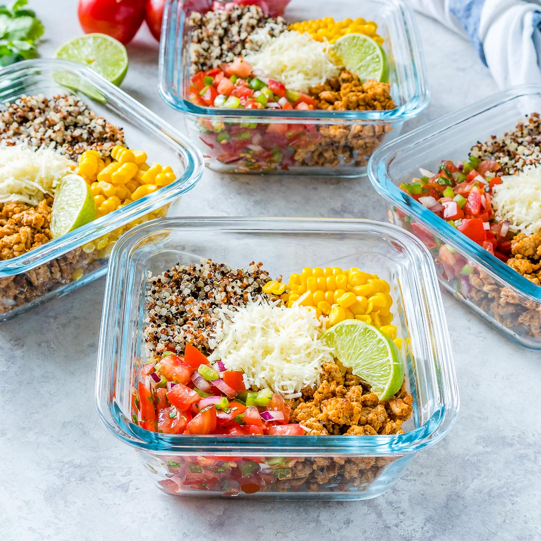 Eat Healthy Taco Meal Prep Energy Bowls
