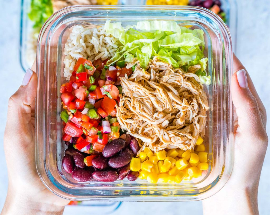 Food Prep Crockpot Chicken Burrito Bowls