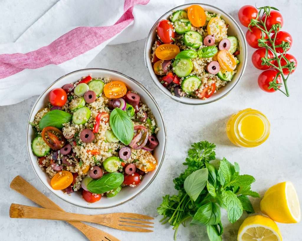 Greek Style Quinoa Salad Clean Eating Recipe