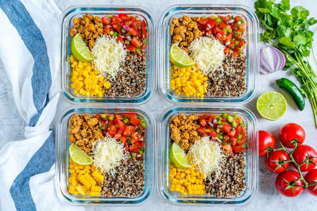 Healthy Taco Meal Prep Bowls