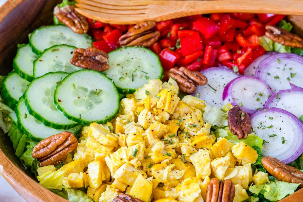 Turmeric Chicken Salad Preparation