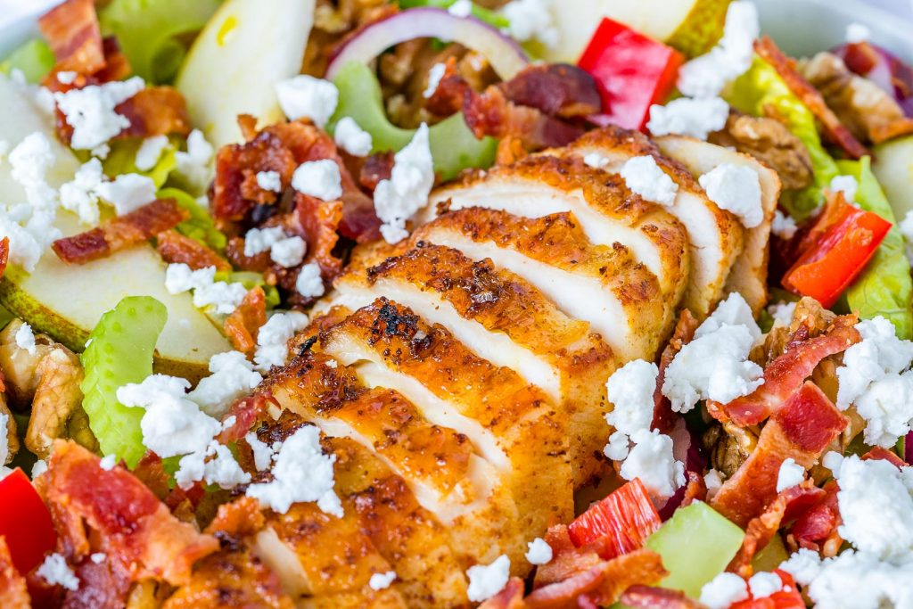 Autumn Pear Goat Cheese Chicken Salad Recipe