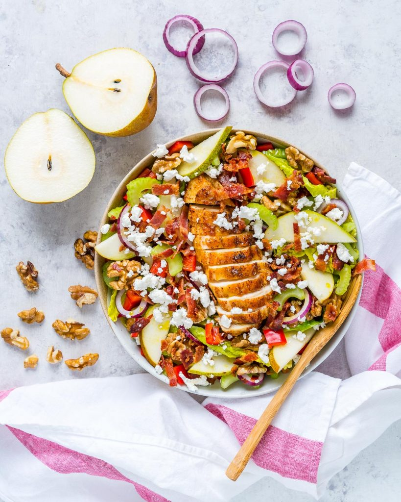 Healthy Goat Cheese Chicken Salad