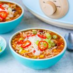 Clean Eating Crockpot Chicken Enchilada Soup