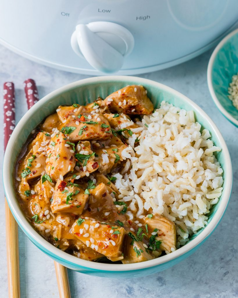 Clean Tangy Crockpot Sesame Chicken